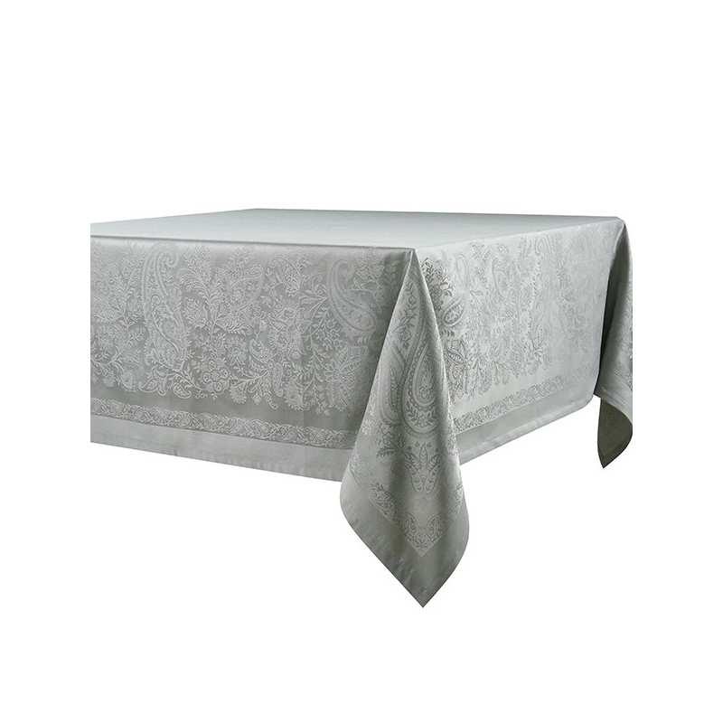 Nappe de table trento grise la compagnie du blanc for Vent du sud linge de maison