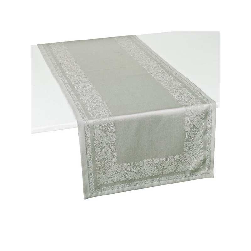 Nappe de table Trento grise - La Compagnie du Blanc