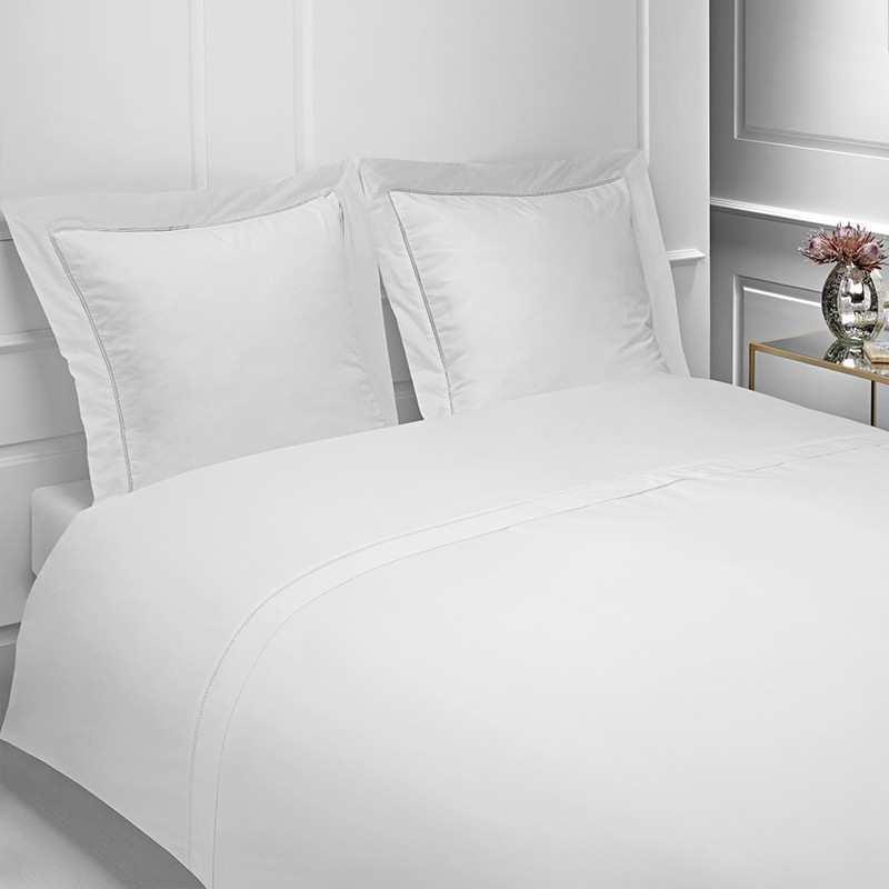 linge de lit en 160 Linge de lit percale 160 fils   La Compagnie du Blanc linge de lit en 160