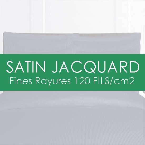 Les Draps en Satin Jacquard Fines Rayures 120 fils/cm2