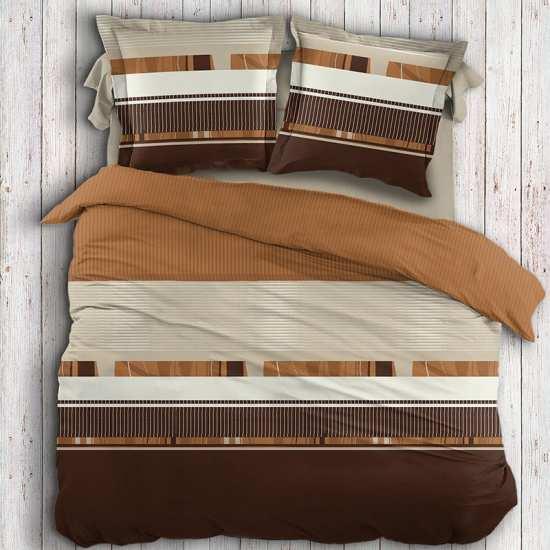 housse de couette rayures ethniques la compagnie du blanc. Black Bedroom Furniture Sets. Home Design Ideas