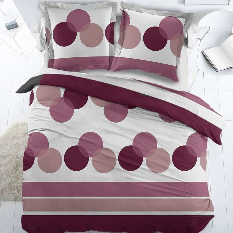 housse de couette mauve la compagnie du blanc. Black Bedroom Furniture Sets. Home Design Ideas