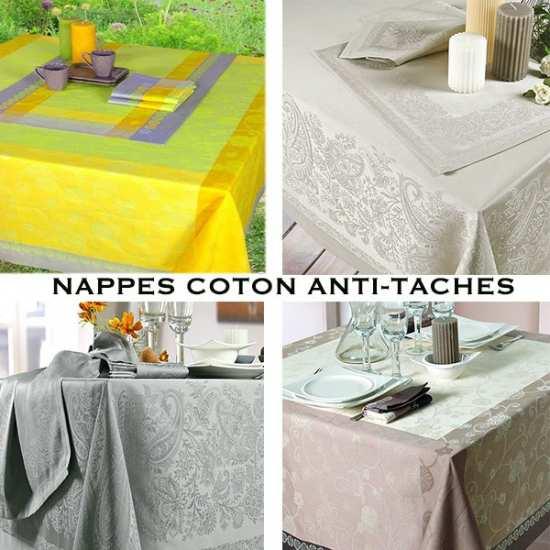 Nappes Coton Traité Teflon Anti-Taches
