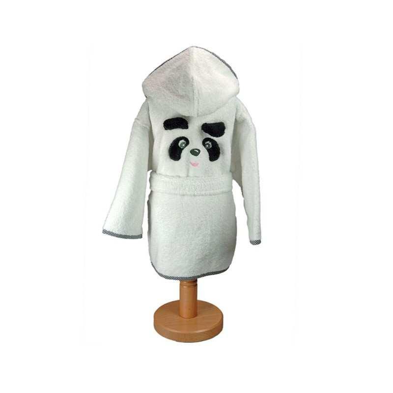 linge de bain panda la compagnie du blanc