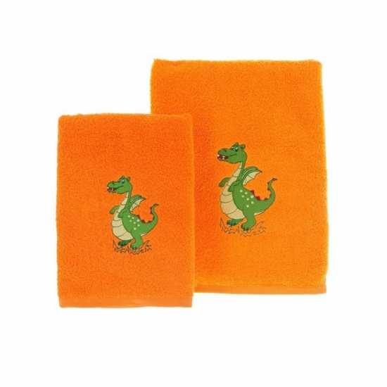 linge de bain dragon orange la compagnie du blanc. Black Bedroom Furniture Sets. Home Design Ideas