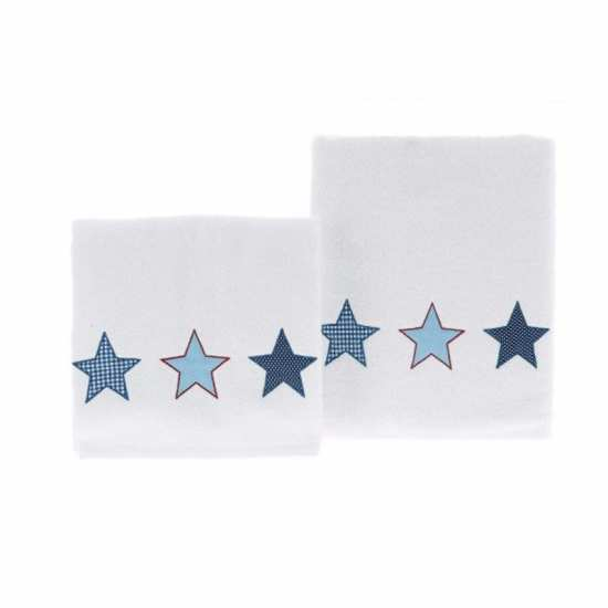 Linge de Bain Enfant Stars Bleu