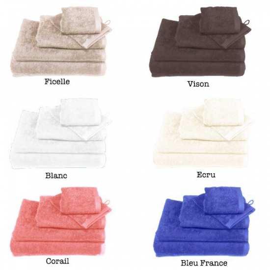 linge de toilette coton la compagnie du blanc. Black Bedroom Furniture Sets. Home Design Ideas