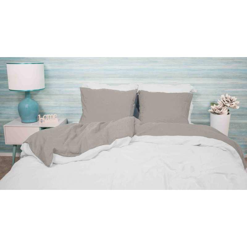 linge de lit lin lav bicolore la compagnie du blanc. Black Bedroom Furniture Sets. Home Design Ideas