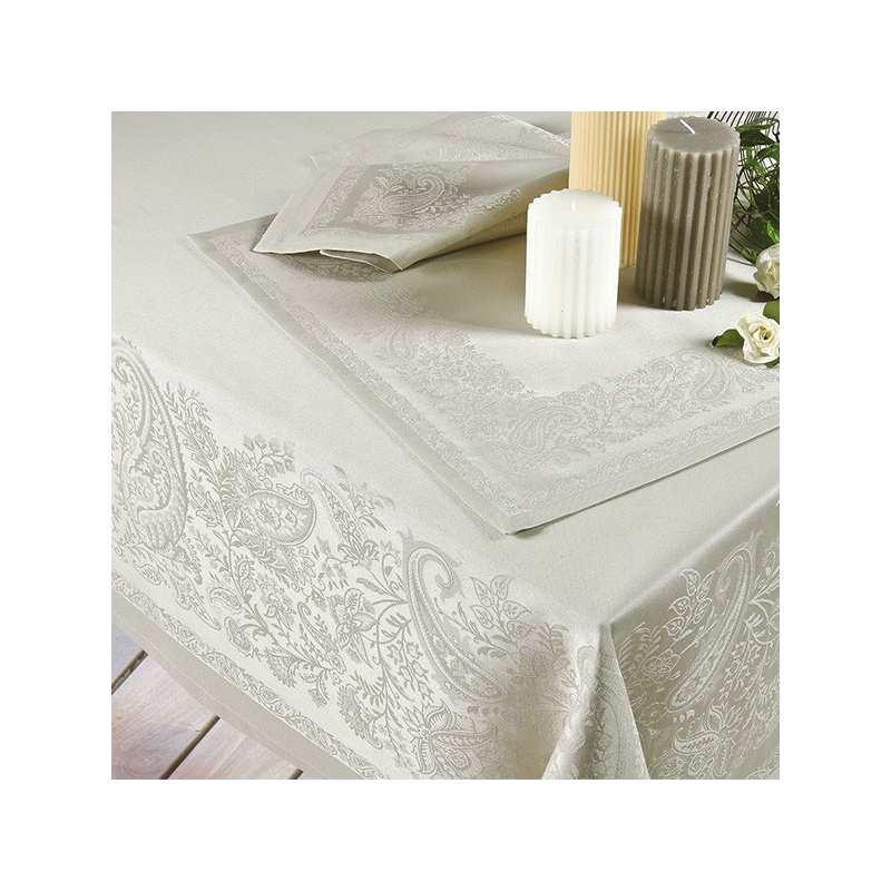 Nappe de table Trento lin - La Compagnie du Blanc
