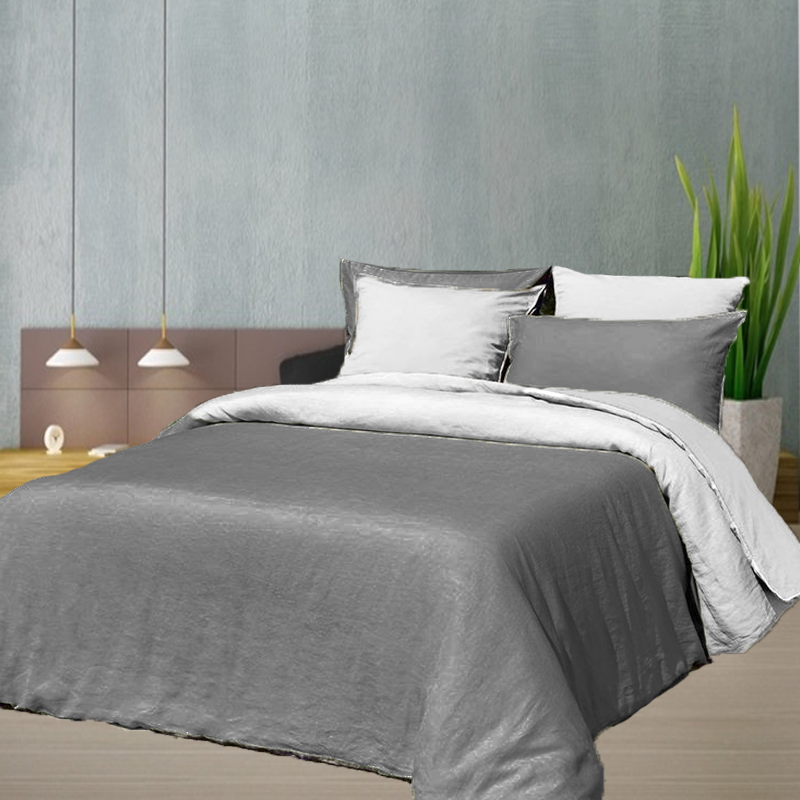 linge de lit en m tis coton et lin la compagnie du blanc. Black Bedroom Furniture Sets. Home Design Ideas