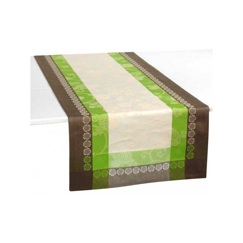 nappes de table ivoire jacquard - la compagnie du blanc