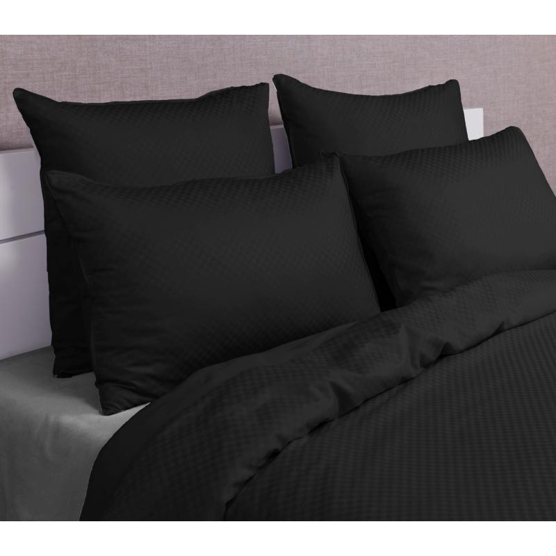 linge de lit satin jacquard damiers luxe la compagnie du. Black Bedroom Furniture Sets. Home Design Ideas