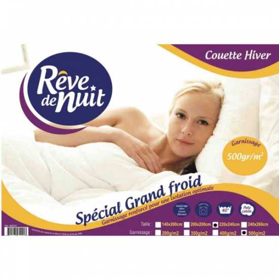 Couette hiver Synthétique 500g/m² Spécial Grand Froid