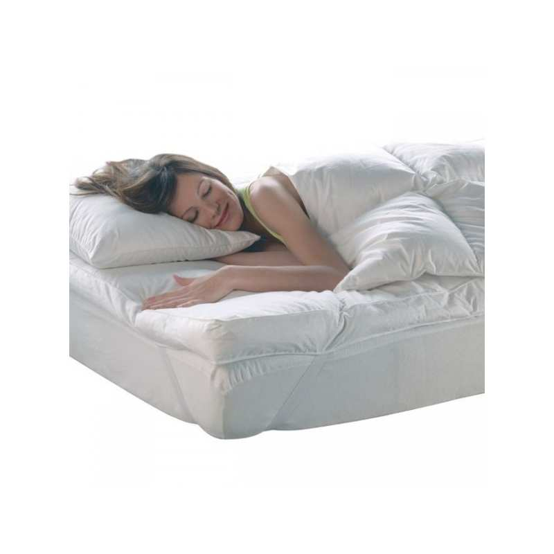 surmatelas duvet la compagnie du blanc. Black Bedroom Furniture Sets. Home Design Ideas