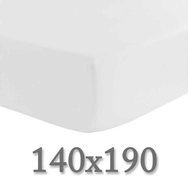 Drap housse 140x190 la compagnie du blanc for Drap housse noir 140x190