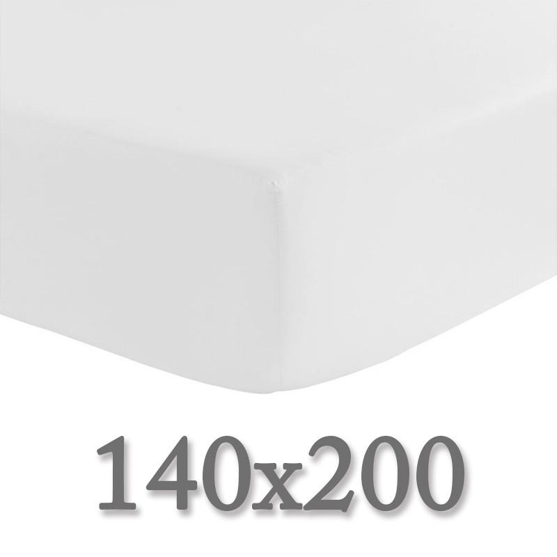 drap housse 140x200 la compagnie du blanc. Black Bedroom Furniture Sets. Home Design Ideas