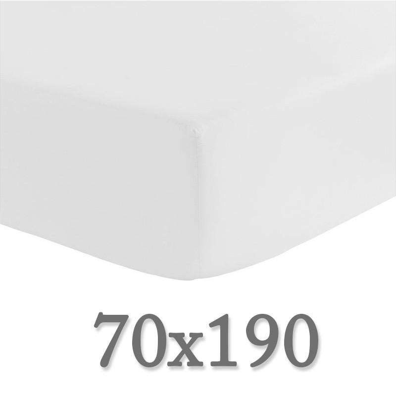 drap housse 70 x 190 draps percale satin de coton 70x190 ou 2 x 70 la compagnie du blanc. Black Bedroom Furniture Sets. Home Design Ideas