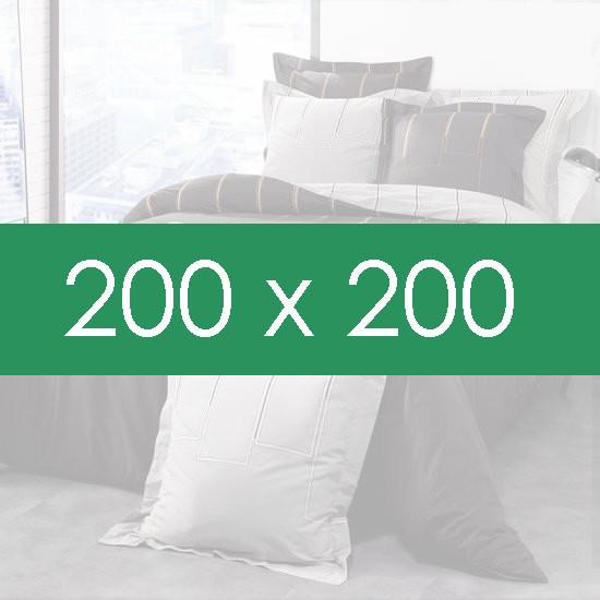 housse de couette 200x200 la compagnie du blanc